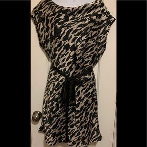 Black and Beige Striped Light, Lined H&M Dress
